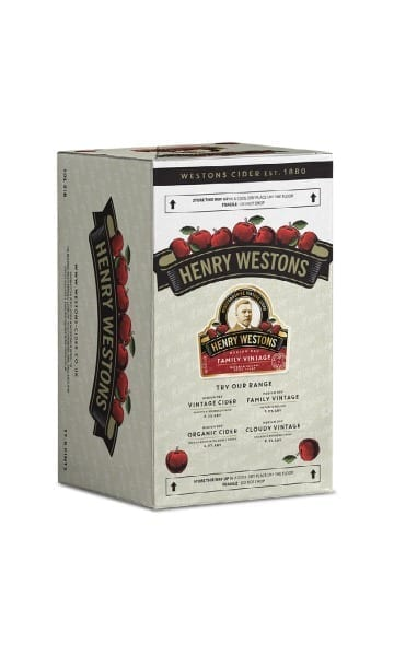 Henry Weston's 10ltr Family Vintage Bag in Box Cider - Sky Wines home delivery