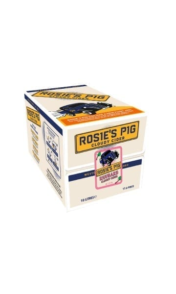 Rosie's Pig 10ltr Rhubarb Bag in Box Cider. - Sky Wines home delivery