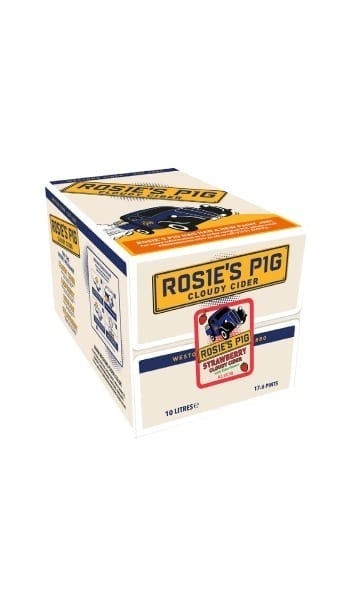 Rosie's Pig 10ltr Strawberry Bag in Box Cider - Sky Wines home delivery