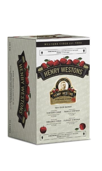 Henry Weston's 10ltr Vintage Bag in Box Cider - Sky Wines home delivery