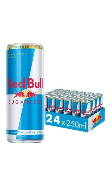 Red Bull Sugar Free 250ml Can (Pack of 24) - Sky Wines home delivery