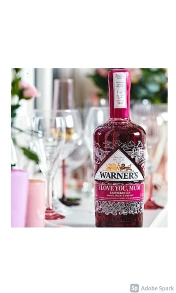 Warner's Raspberry Gin Personalised 70cl - Sky Wines home delivery