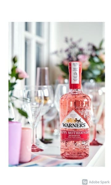 Warner's Rhubarb Gin Personalised 70cl - Sky Wines home delivery