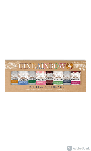 Warner's Gin Rainbow Gift Set (8 x 5cl) - Sky Wines home delivery